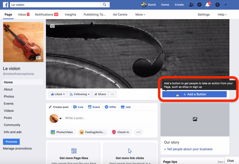 booking system integration button for facebook