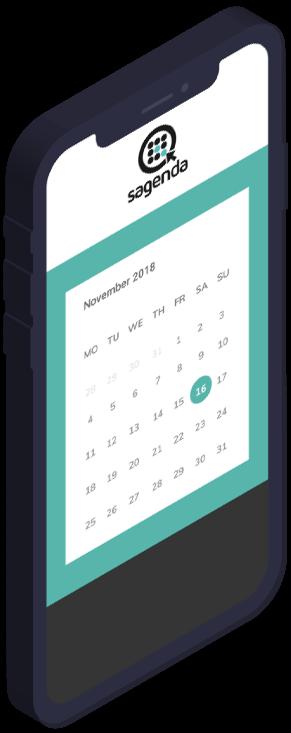 calendar iphoneX scheduling