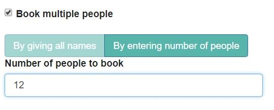 Booking multiple users