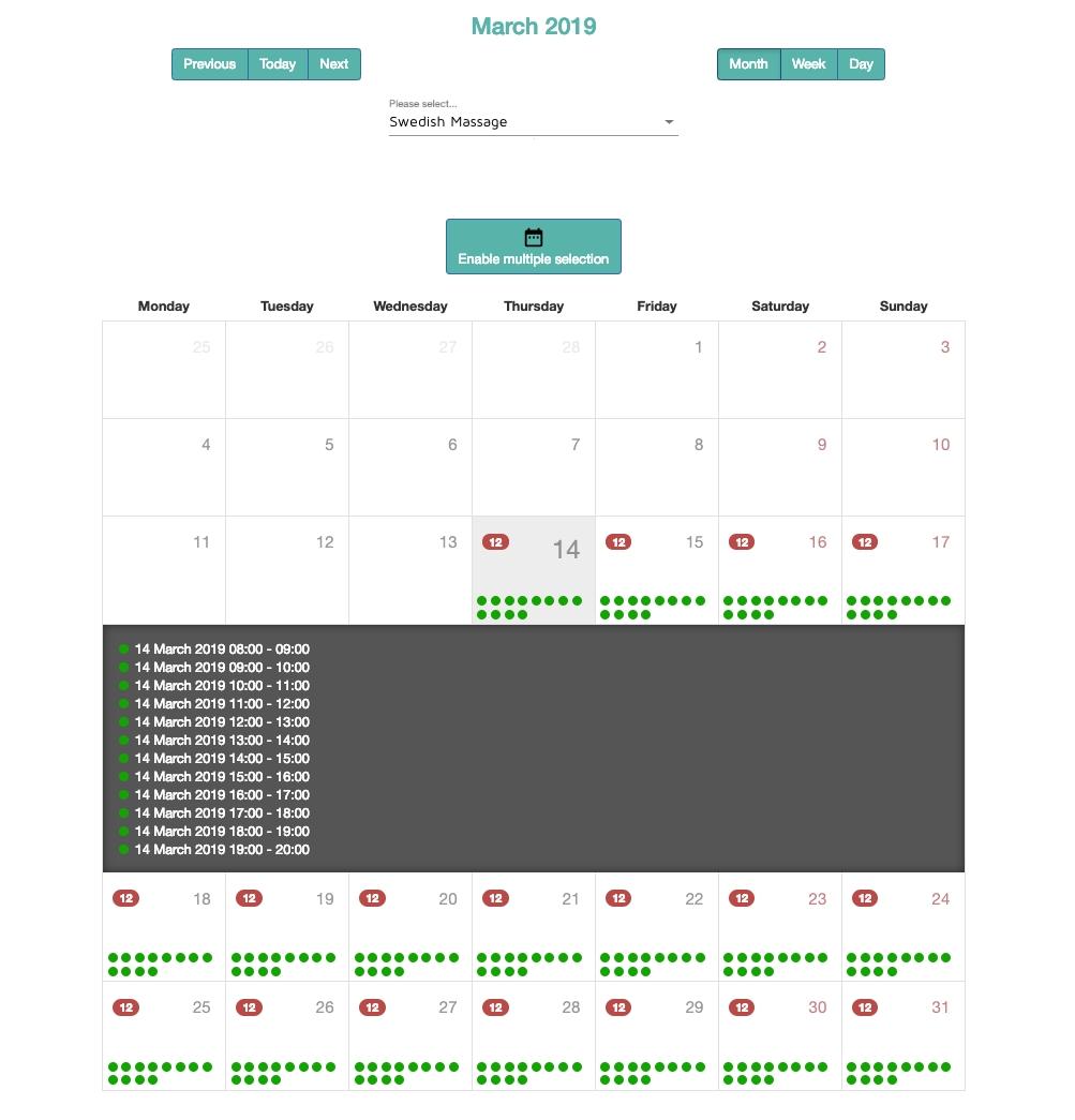 Calendar Scheduling Yoga