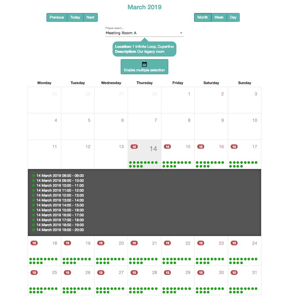 Calendar Scheduling Meeting Room